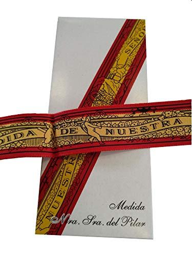 DRW Cinta Virgen del Pilar (Bandera de España) con Figura en Caja de Regalo