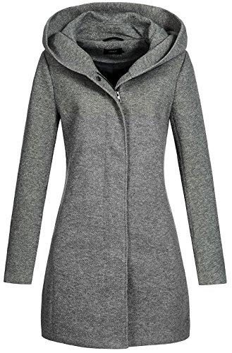 Only onlSEDONA Light Coat OTW Noos Abrigo, Gris (Dark Grey Melange), 36 (Talla del Fabricante: Small) para Mujer