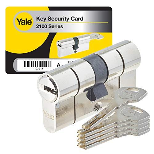 Yale YC2100 DB 30X30 NI - Cilindro de cerradura de embrague, Níquel, 30x30 mm