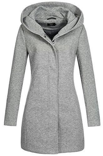 Only onlSEDONA Coat OTW Noos Abrigo, Gris (Light Grey Melange), 38 (Talla del Fabricante: Medium) para Mujer