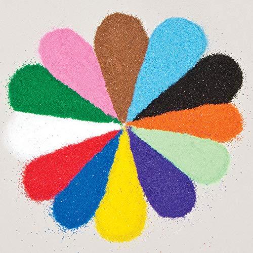 Baker Ross Minibolsas de arena de colores (Pack de 12), colores variados AG211