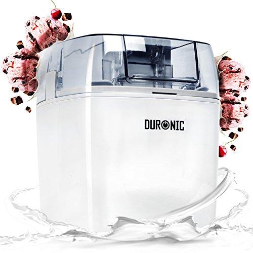 Duronic IM540 Heladera con bol de congelación de 1.5L para hacer postres caseros como helados, sorbete y yogur helado caseros en 15-30 minutos - Potencia de 30 W- Incluye pala y accesorios