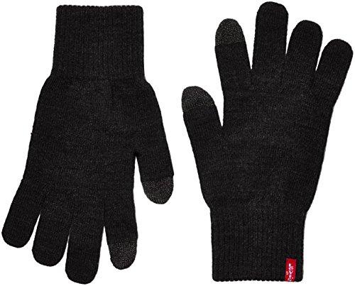 Levi's Ben Touch Screen Gloves, Guantes Hombre, Negro (Black), Medium