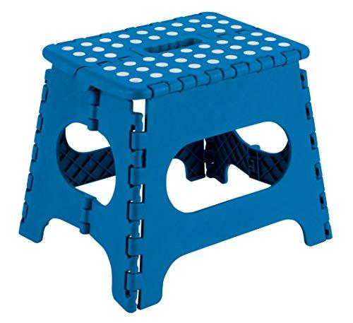 Arregui TB-027-A Taburete Plegable Multiuso, 27 cm de altura, Azul
