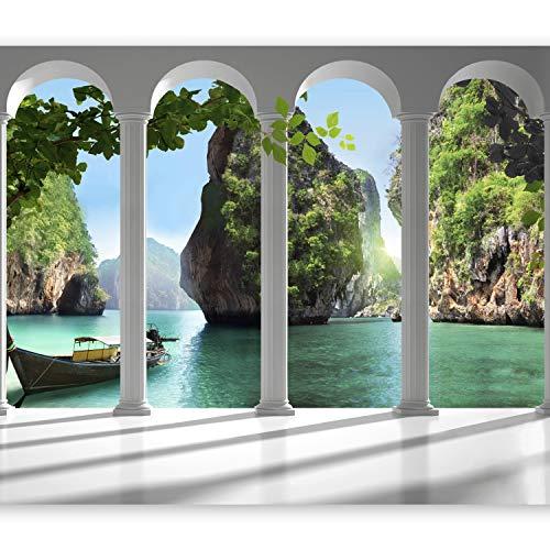 murando Fotomurales 350x256 cm XXL Papel pintado tejido no tejido Decoración de Pared decorativos Murales moderna de Diseno Fotográfico - Naturaleza Paisaje Mar 10110903-13