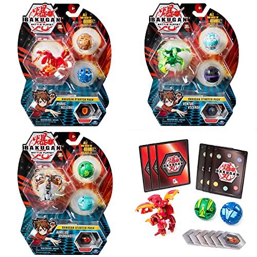 BAKUGAN Starter Pack Set Assortment (Styles may Vary-One Supplied) Surtido de paquetes de iniciación (estilos pueden variar, uno incluido), color multicolor. (Spin Master Toys Ltd 6045144)