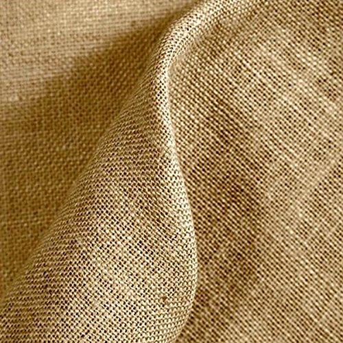 Kt KILOtela Tela de arpillera, Saco - Yute - Manualidades, Costura, decoración - Retal de 50 cm Largo x 147 cm Ancho   Color Natural ─ 0,5 Metro