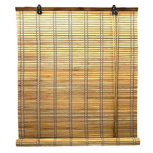 Solagua 14 Medidas de estores de bambú Cortina de Madera persiana Enrollable (60 x 175 cm, Roble)